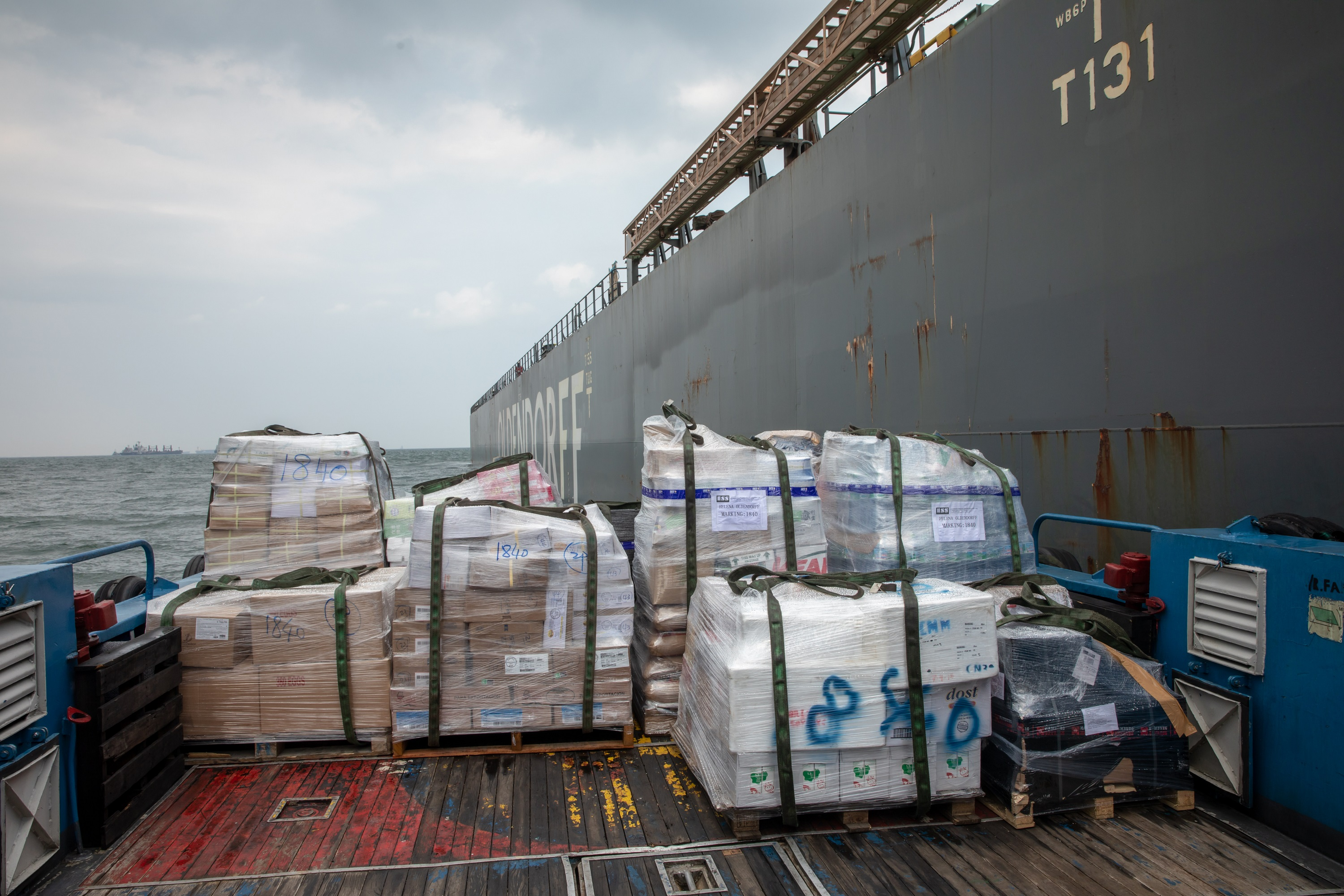 Logistics support, Supplies to main ship, ESS, Support in global ports, Offices in Shanghai, Singapore, Panama